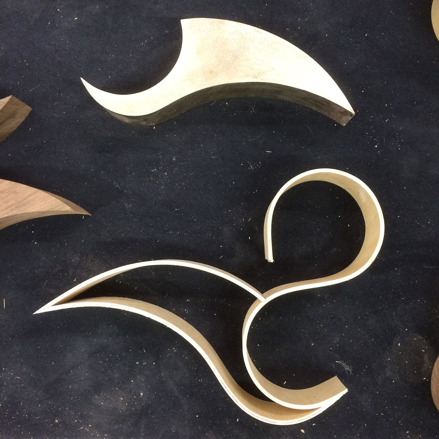 Designing the two components in wood and plywood to make the sculpture assembly