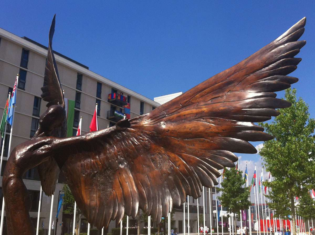 Icarus, by Nicola Godden, at the London 2012 Olympic Village