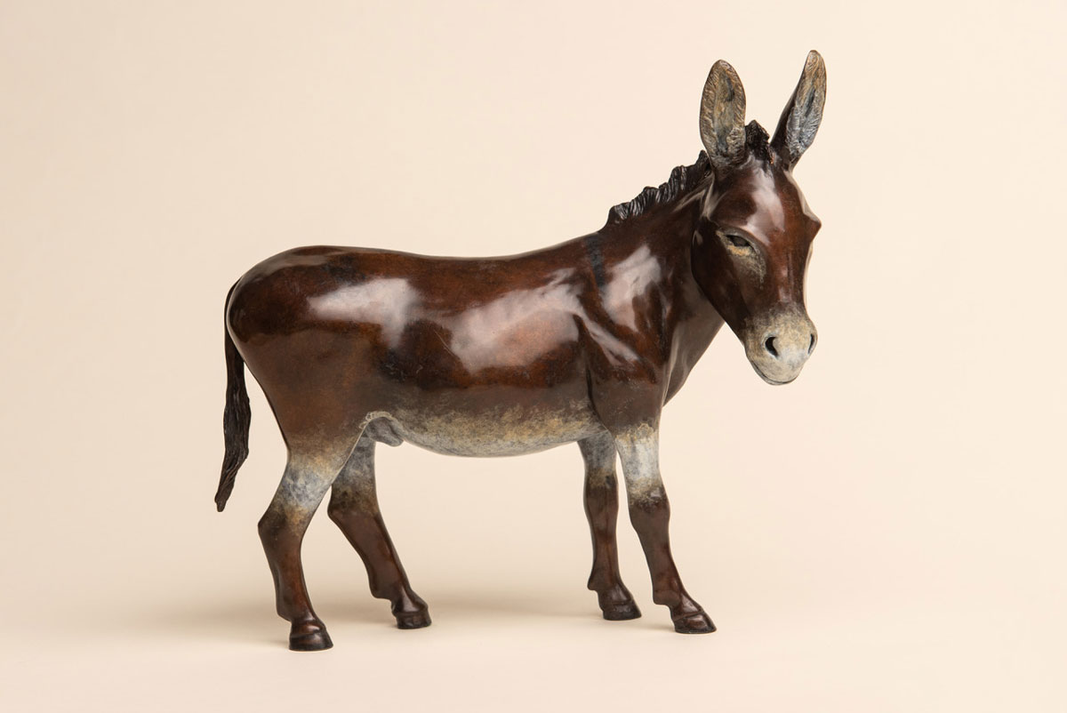 'Quercy' the donkey, side view, by Dianan Pattenden