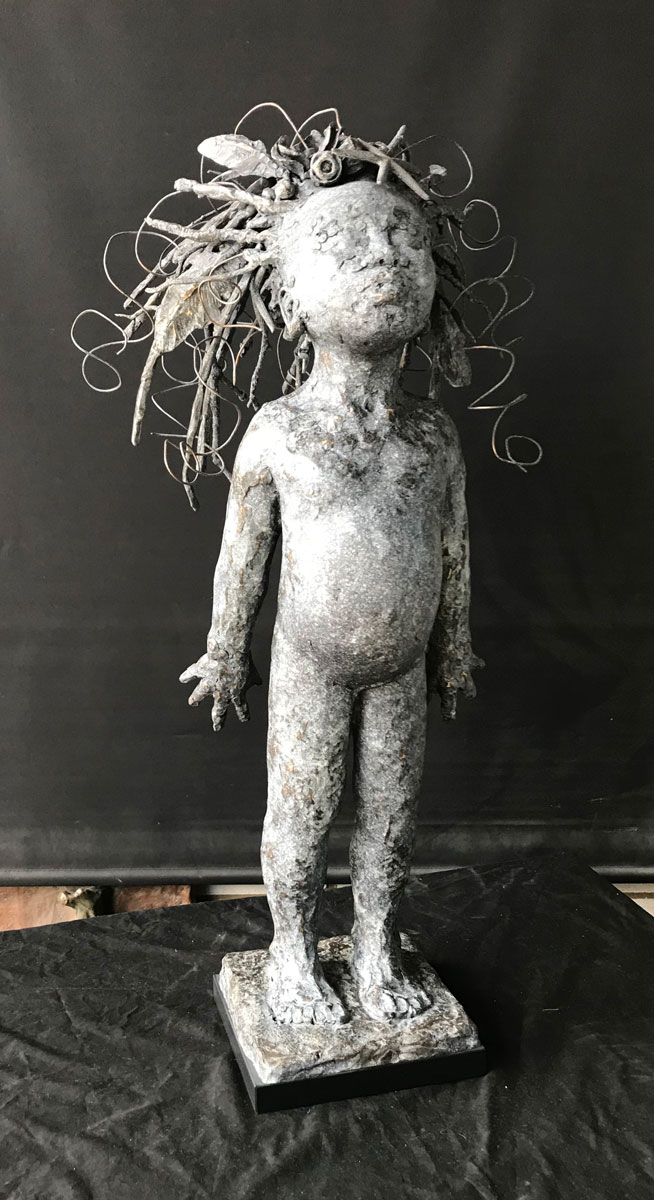 'Sweet Breath of Earth' - life-size child by Nicola Ravenscroft