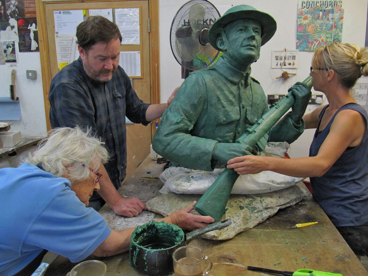 Making adjustments to the wax model